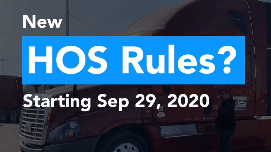 New HOS Rules sep 29th 2020
